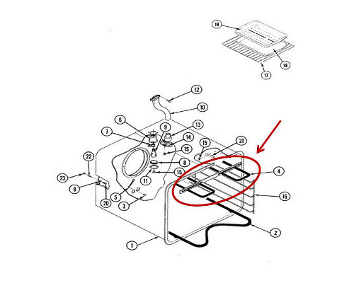 Whirlpool Part# WPY04100015 Broil Element (OEM)