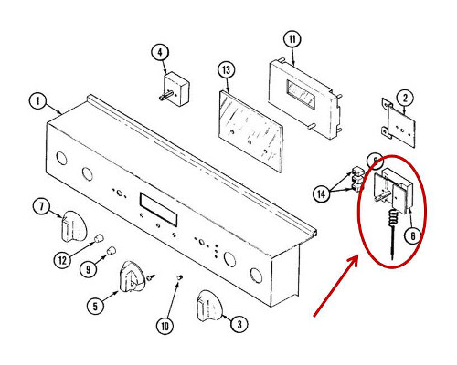 Whirlpool Part# WPY703674 Tempurature Control Thermostat (OEM)
