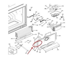 GE Part# WR17X12253 Insulation Cover Evaporator (OEM)