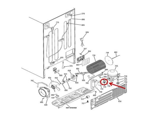 GE Part# WR07X10084 Compressor Start Relay (OEM)