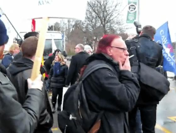 OCAP Anarchist Mark Brill supporting Sid Ryan...