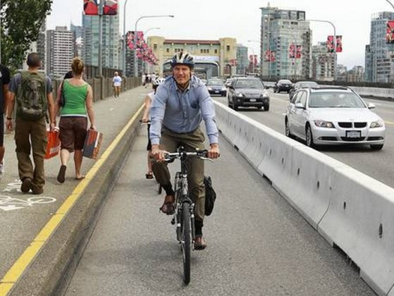 Gregor Robertson- If only it were as easy as building bike lanes!