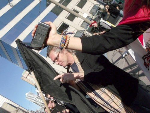 Greg Renouf Deep in the middle of the Black Bloc during a march against police violence...