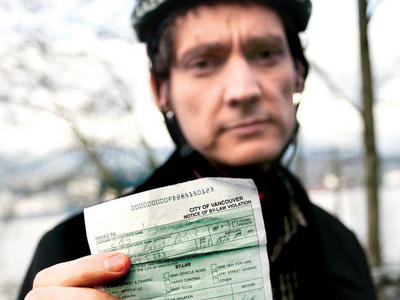 David Eby whining about a legitimate traffic ticket...