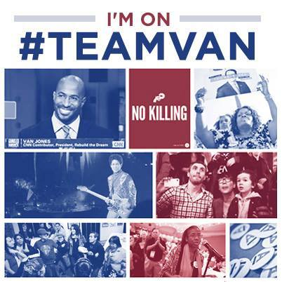 cStreet run's Van Jones's web campaign...