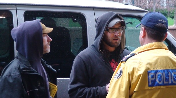 Dave Vasey & Alex Hundert harassing the cops...