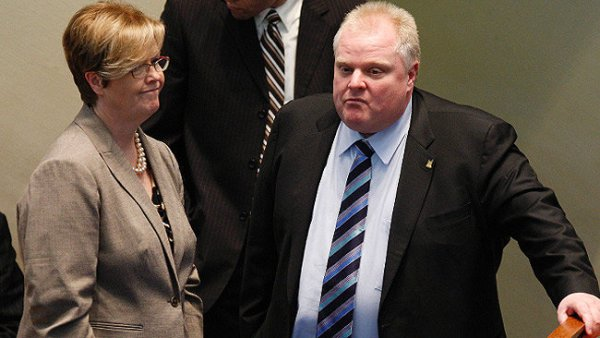 Shelley Carroll & Rob Ford have had lots of conflict...