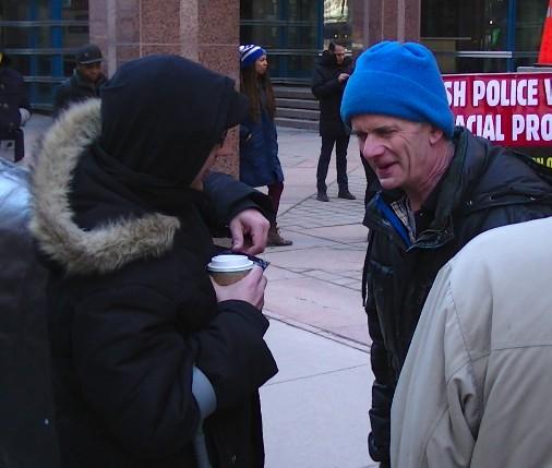 """Terrorist"" Julian Ichim with OCAP leader John Clarke"