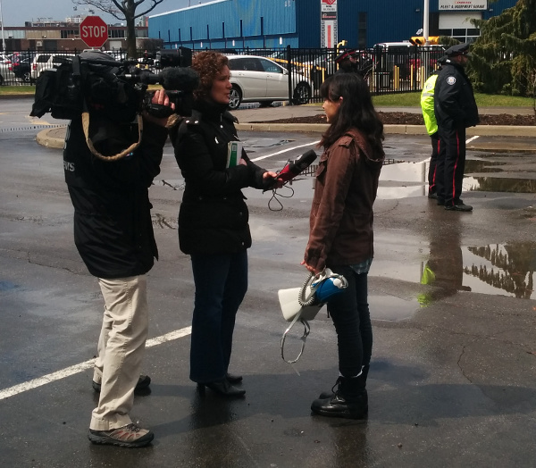 Sakura Saunders interviewed by the CBC