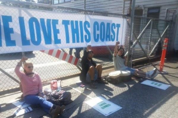 Chevron protest last year...
