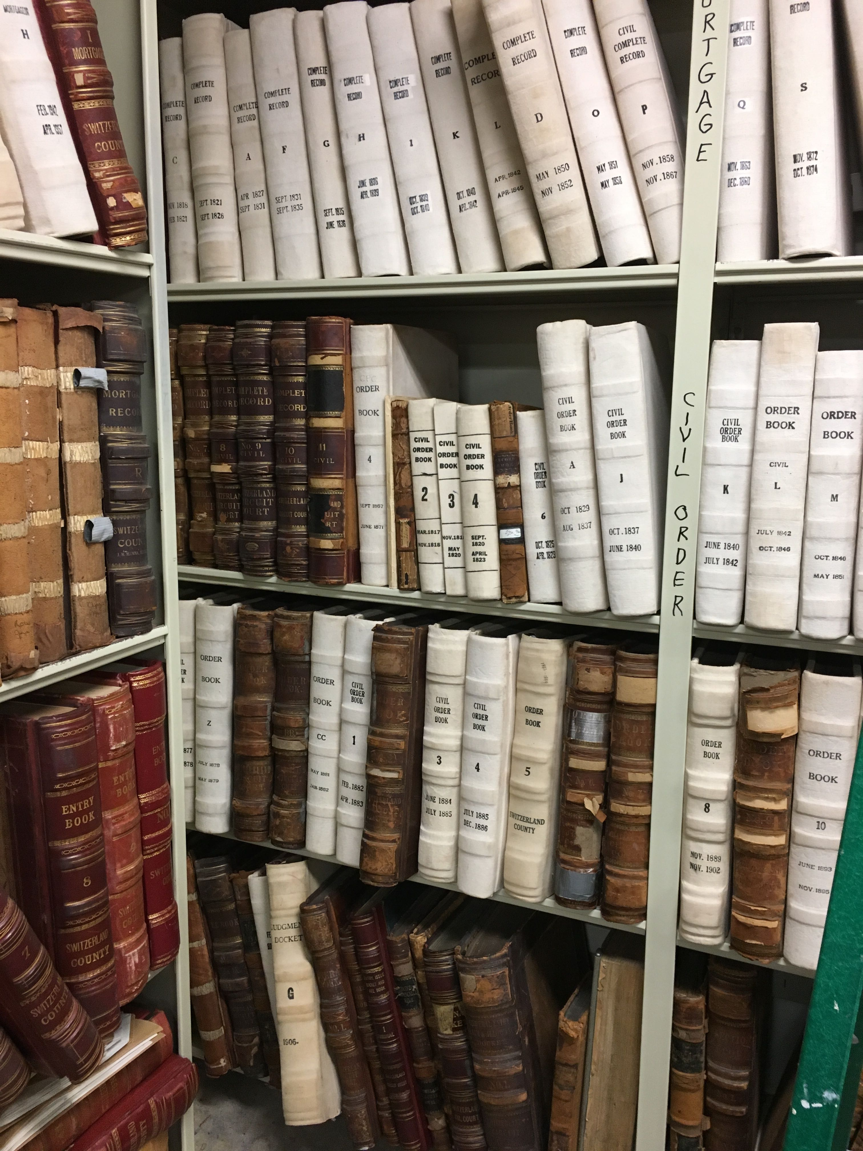 Researching at the Switzerland County Indiana Courthouse