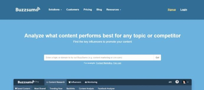 BuzzSumo - inbound marketing