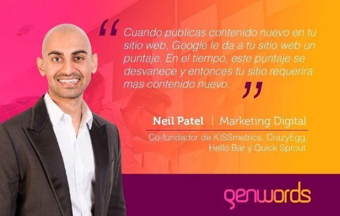 Neil Patel define el marketing digital
