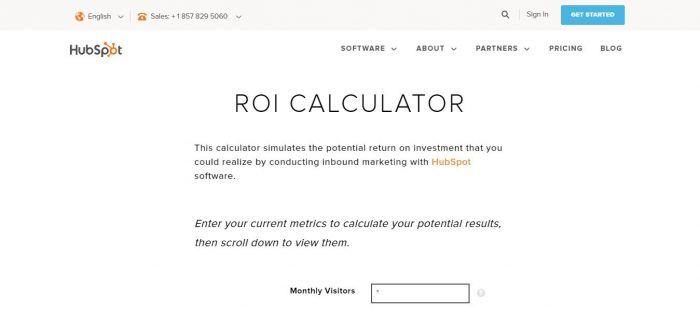 Calculadora Hubspot ROI