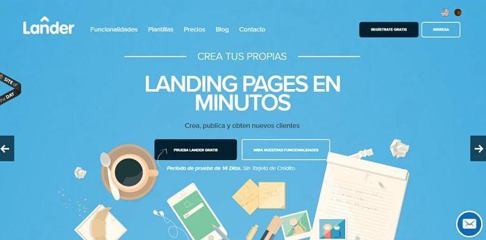 Landing Page Lander