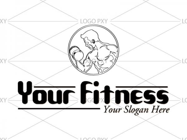Fitness and Gym Logo design India, Gym and Body building