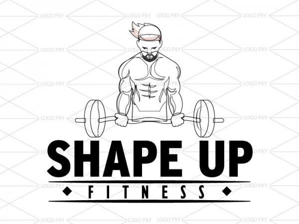 Body Building Fitness and Shape up Logo design India, Gym