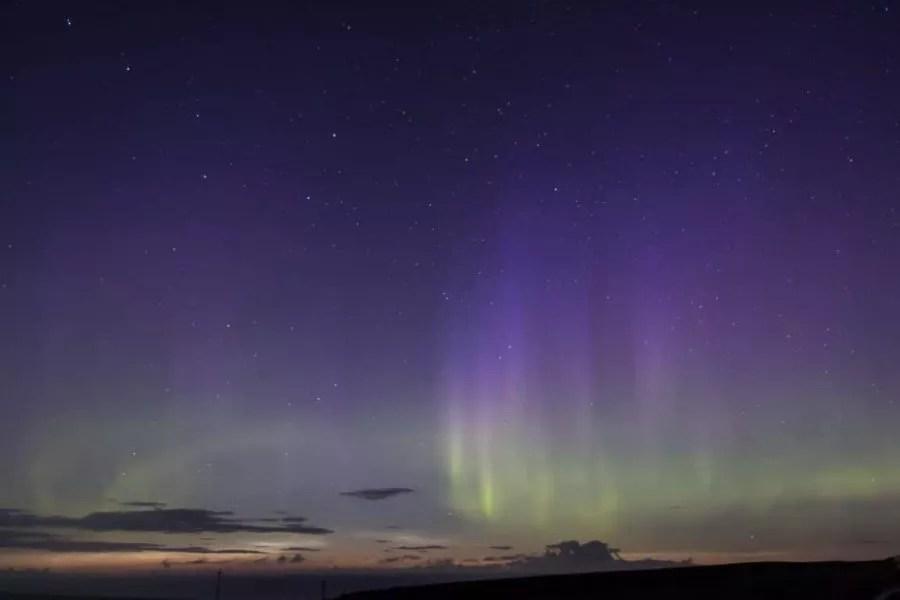 Northern Lights Orkney aurora