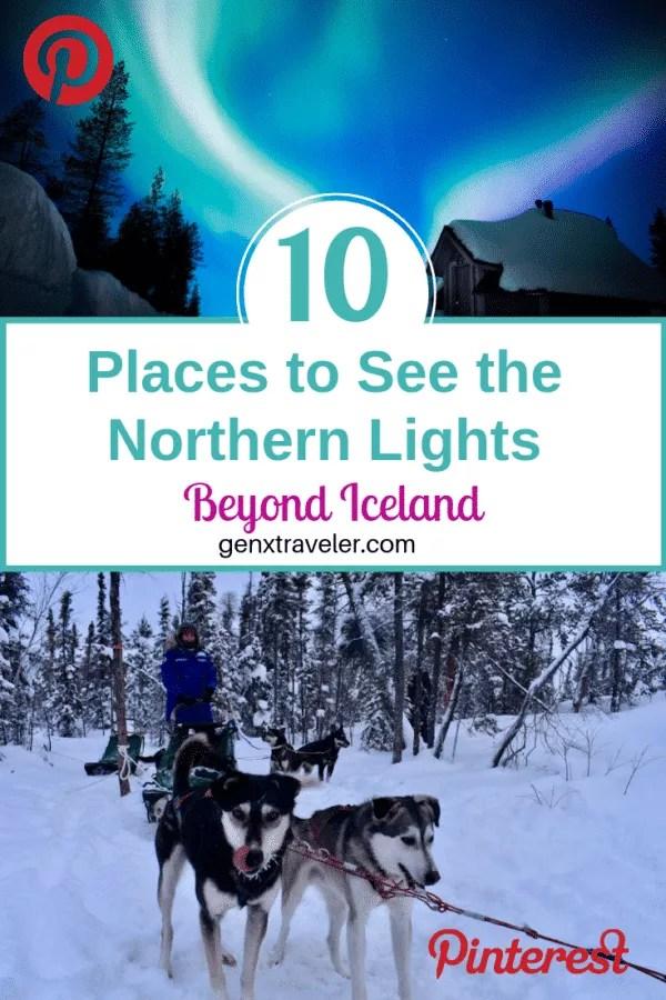Northern Lights beyond Iceland