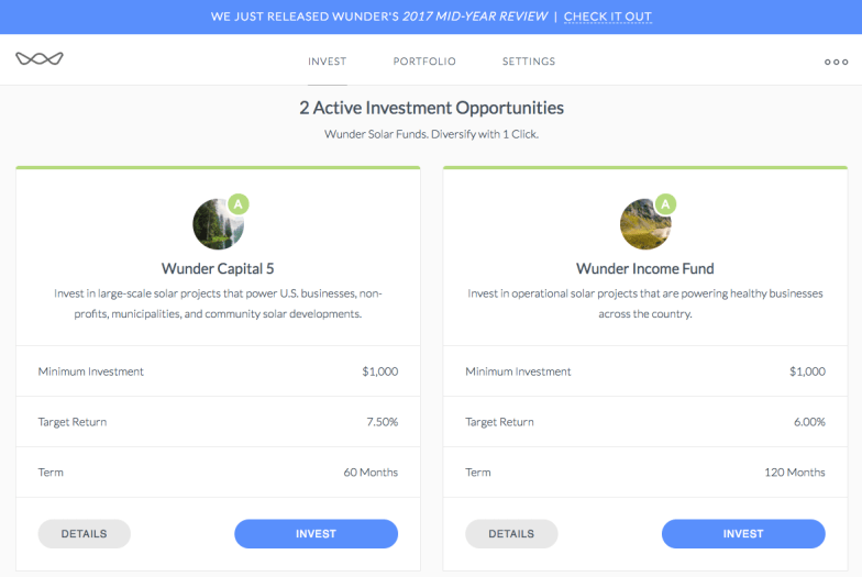 Wunder Capital Investment Funds