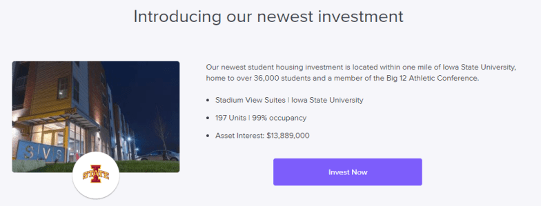 First RU Student Housing Investment