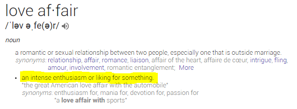 Love Affair Definition