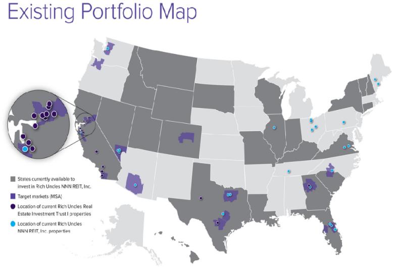 Existing NNN Portfolio Map
