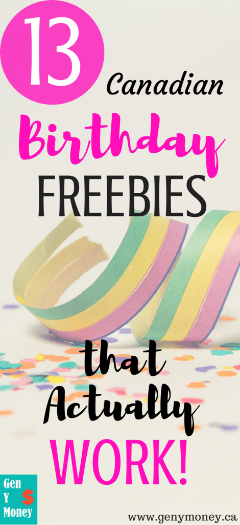 13 Canadian Birthday Freebies that Actually Work