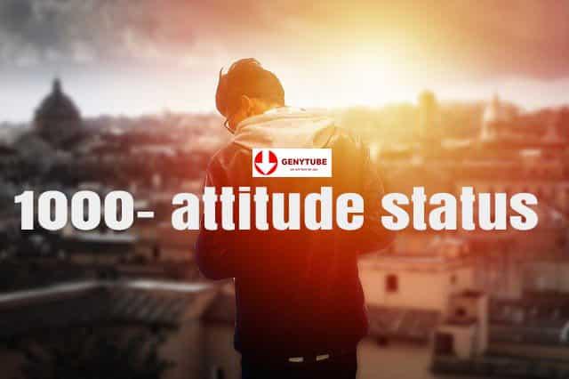 1000- attitude status