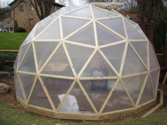 Geodesic dome build in design and construction page 1 of 4 for Geodesic greenhouse plans free