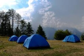 tente dans camping