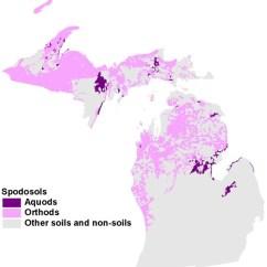 Soil Profile Diagram Of Michigan Cpu Components Spodosols Soilmap Aquod Orthod Jpeg 77866 Bytes
