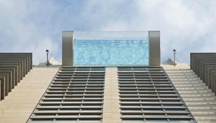 This Sky glass pool in downtown Houston will send shivers