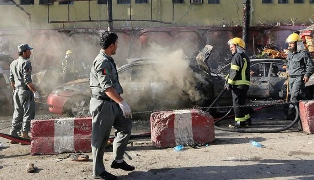 Image result for Casualties after several rockets fired into Kabul: police