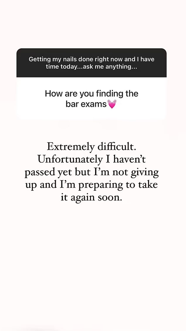 352132 2912090 updates Kim Kardashian weighs in on taking 'extremely difficult' bar exam