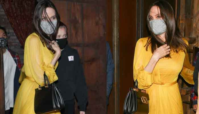 354008 5088886 updates Angelina Jolie sends pulses racing as she steps out in yellow dress with her loved ones