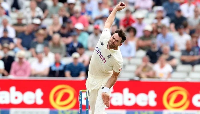 Cricket - Second Test - England v New Zealand - Edgbaston Stadium, Birmingham, Britain - June 11, 2021 Englands James Anderson in action Action Images via Reuters/Peter Cziborra/File Photo