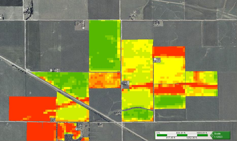 NDVI Maps for Scouting and Crop health monitoring  Farm