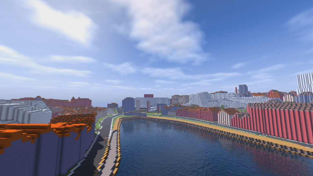 Stavanger in custom Minecraft map