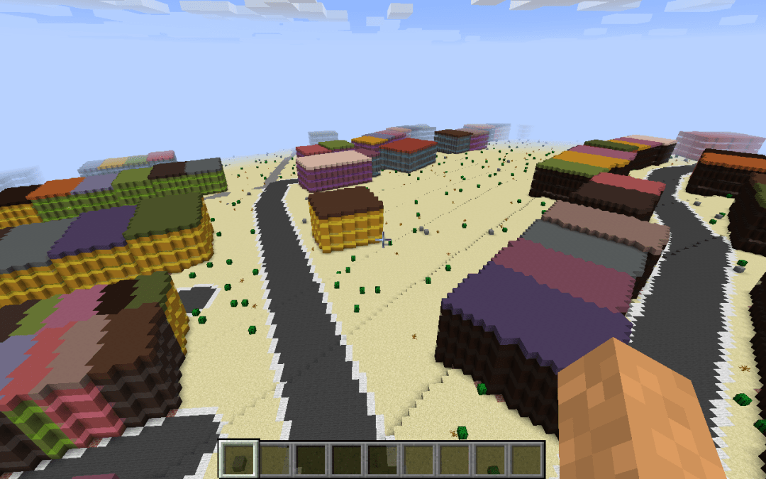 Minecraft map customization - hot and dry biome