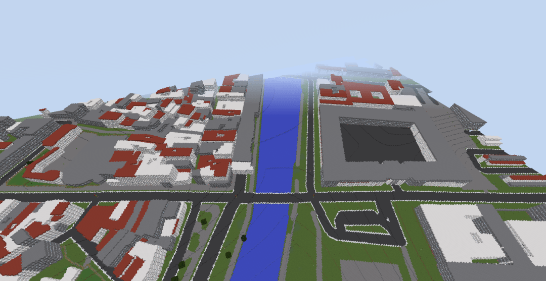 Paris in Minecraft.