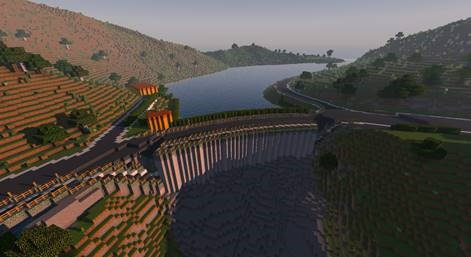 Trondheim in Minecraft