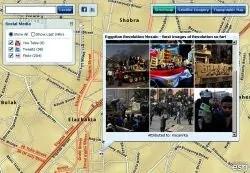 Mapa nepokoju v Egypte