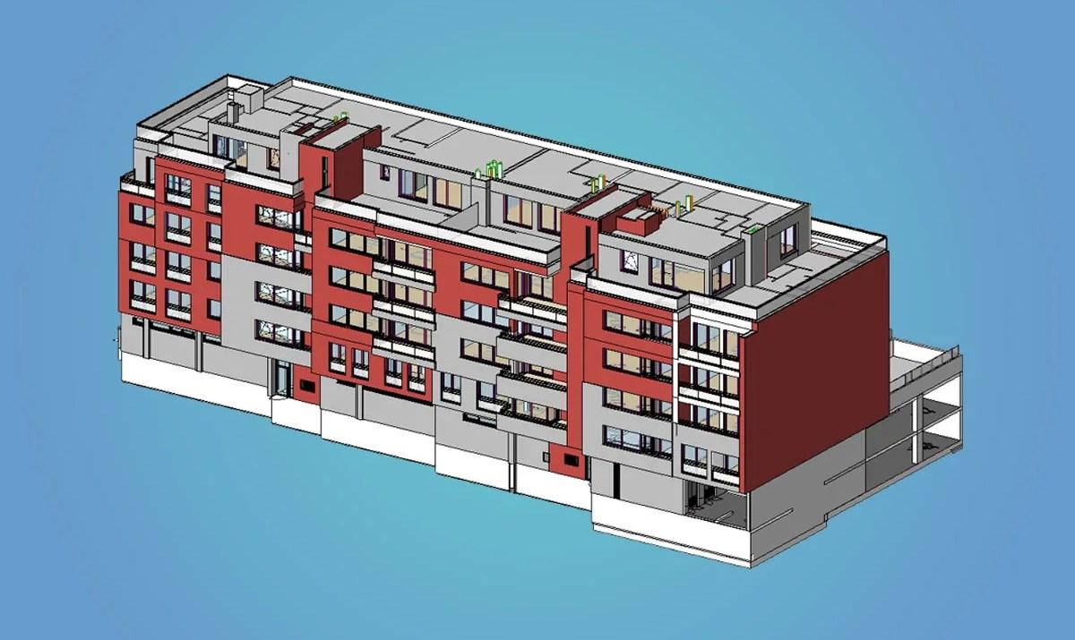 BIM model v Autodesk Revit / GeoBusiness.cz