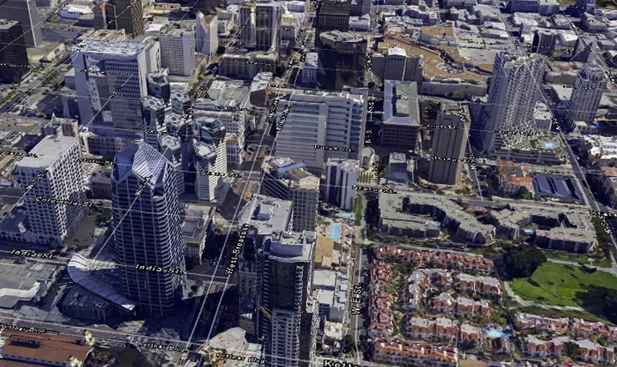 Melown screenshot San Diego / GeoBusiness