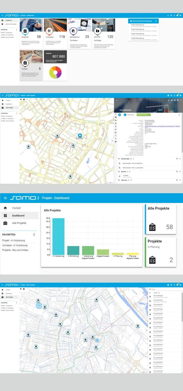 ukázky systému SAMO od firmy Asseco