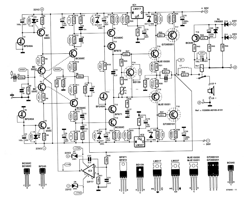 Amplificador De Audio De 50 Watt Sobre 8 Ohm