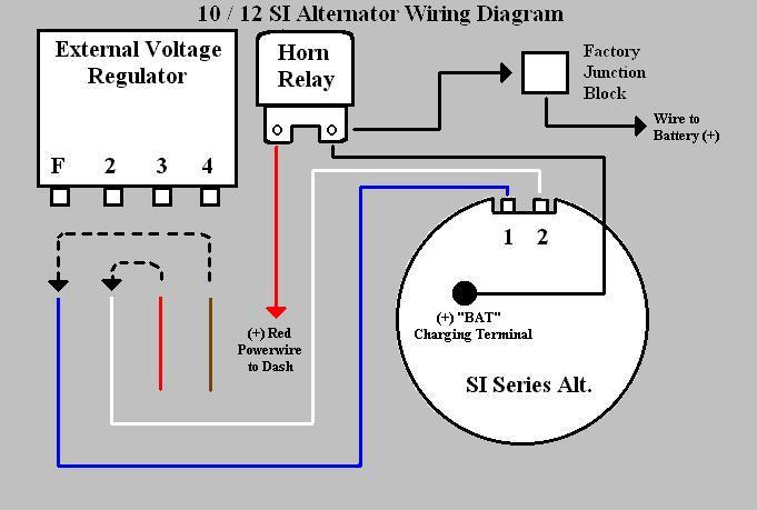 delco 10si alternator wiring diagram 1996 honda civic 10 si www toyskids co internally regulated alternater duralast chevy