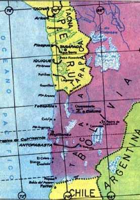 [Landkarte der Atacama-Wüste in den Grenzen von 1866]