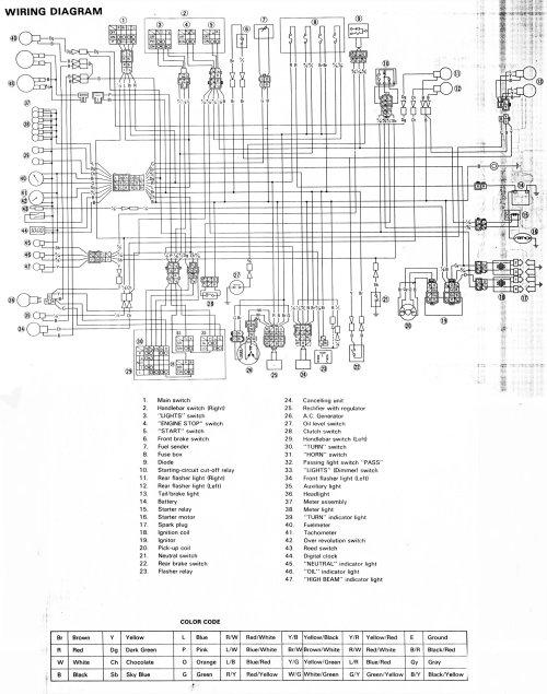 small resolution of motorcycles yamaha xj maxim wiring diagram data wiring diagram yamaha maxim 750 wiring diagram